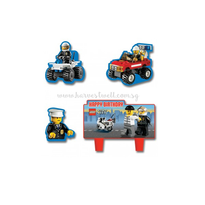Lego City Wax Mini Cake Decoration Set