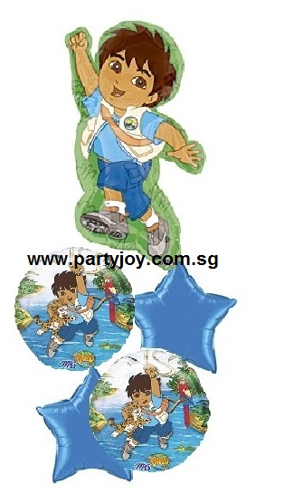 Diego Adventure Party Balloon Package