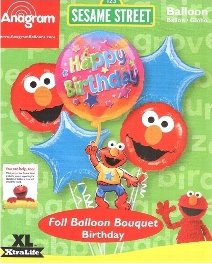 Elmo Birthday Party Balloon Package