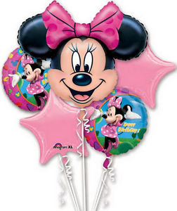 Minnie Mouse Birthday Balloon Bouquet