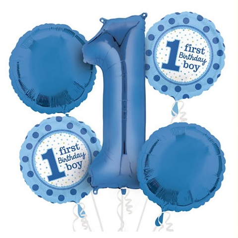 1st Birthday Boy Blue Balloon Package