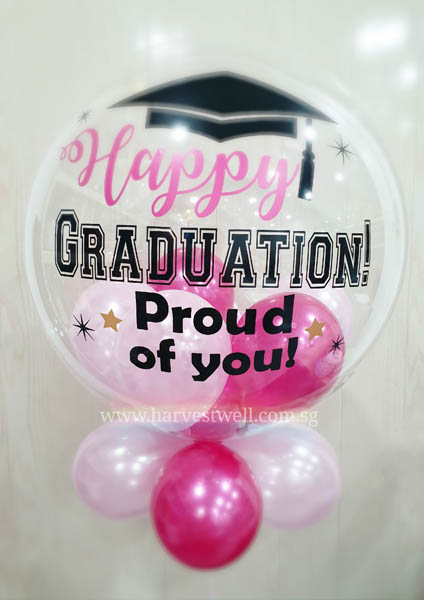 Congrats Graduation Bubble Balloon Size: 24""