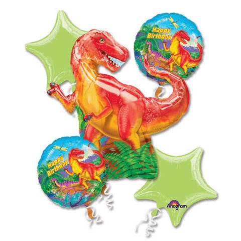 Dinosaur Party Balloon Bouquet