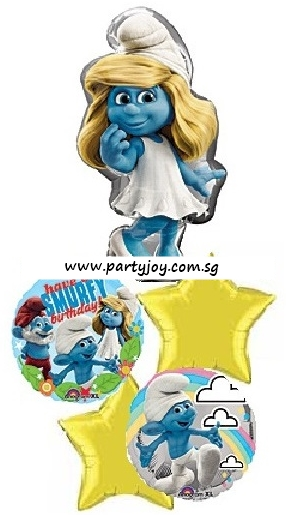 Smurfette Birthday Balloon Package