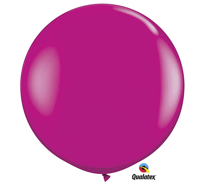 Wild Berry Jumbo Round Shape Helium Latex Balloon
