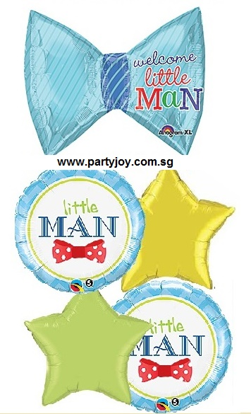 Baby Bow Little Man Balloon Package