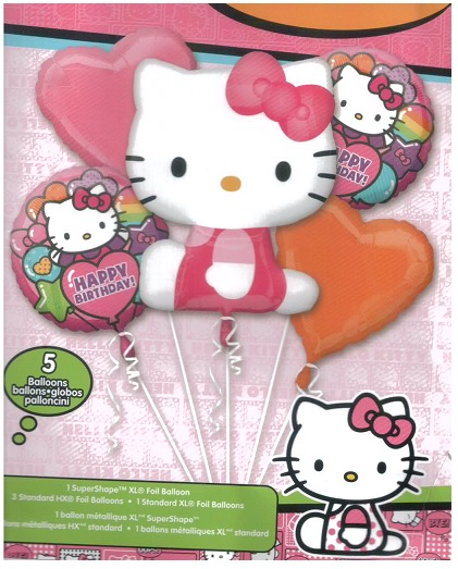 Hello Kitty Rainbow Birthday Balloon Bouquet