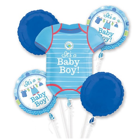 It's a Boy! Romper Balloon Bouquet