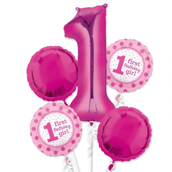 1st Birthday Girl Balloon Package