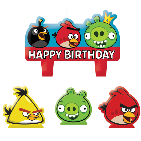 Angry Birds Birthday Candle Set