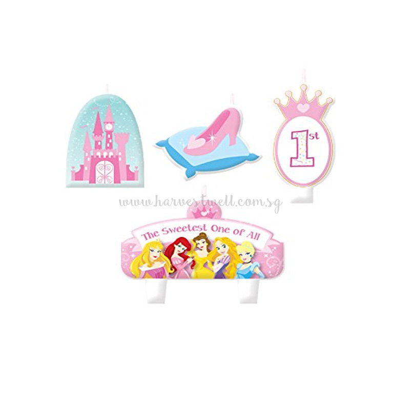 Disney Princess 1st Birthday Candle Set