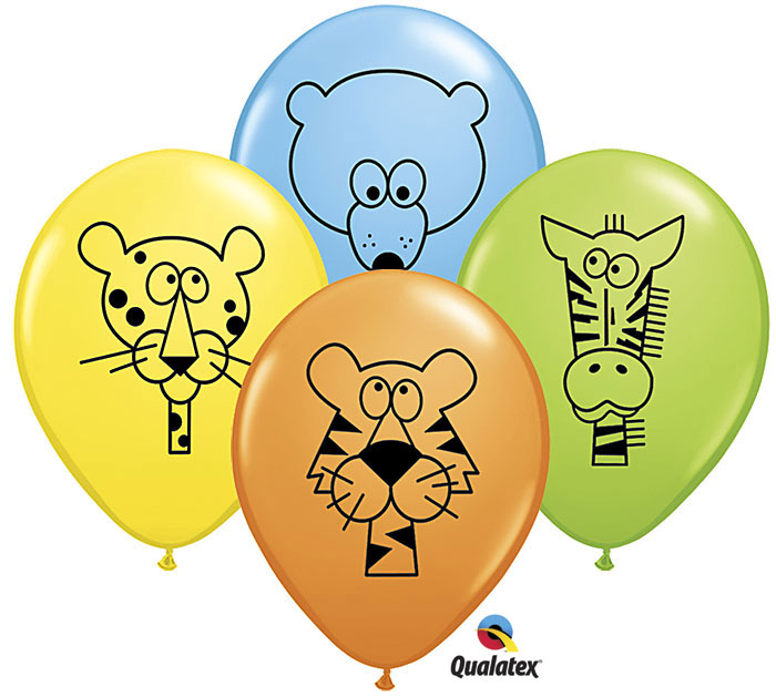 Jungle Animal Helium Latex Balloon