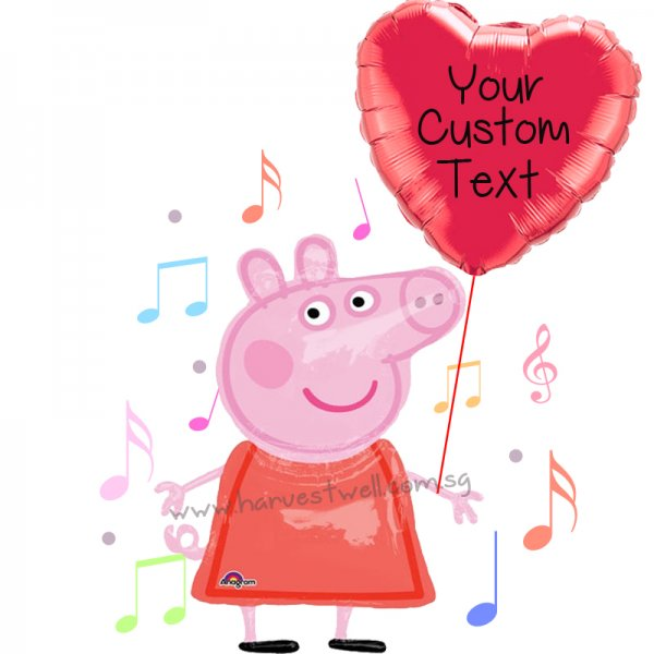 Personalize Peppa's Love Balloon Gift