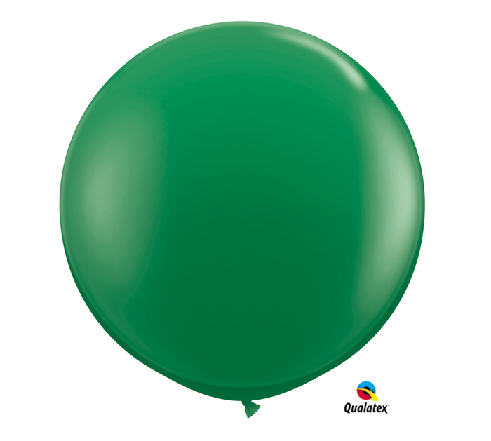 Green Jumbo Round Shape Helium Latex Balloon