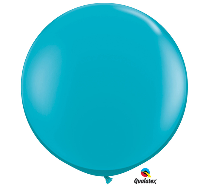 Tropical Teal Jumbo Round Shape Helium Latex Balloon