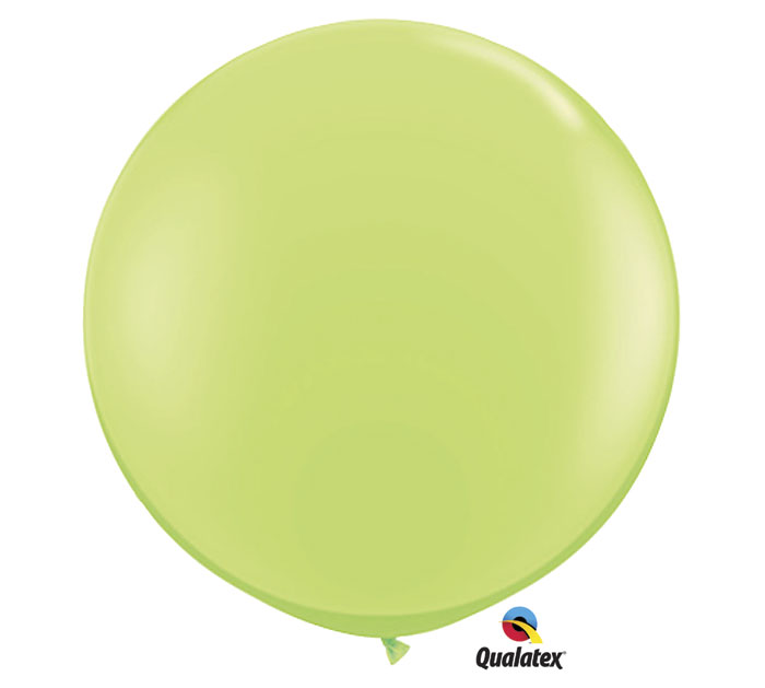 Lime Green Jumbo Round Shape Helium Latex Balloon