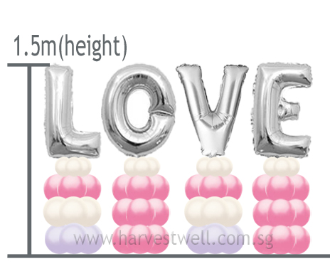 Customize Megaloon Alphabet Balloon Column
