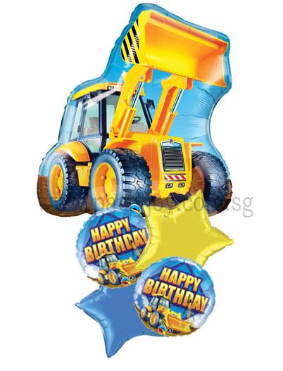 Happy Birthday FS Construction Truck Balloon Package BP36418