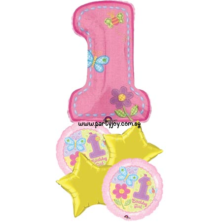 1st Birthday Girl Party Balloon Package