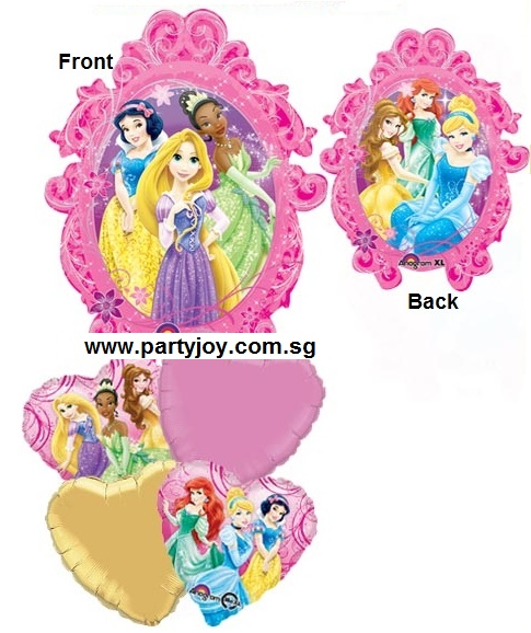 Disney Princess Group Cluster Balloon Package