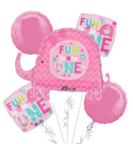 1st Baby Girl Fun To Be One Balloon Package
