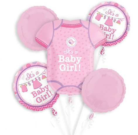 It's A Girl! Romper Balloon Package