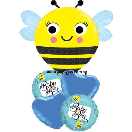 Happy Buzz'n Bee Baby Boy Balloon Package