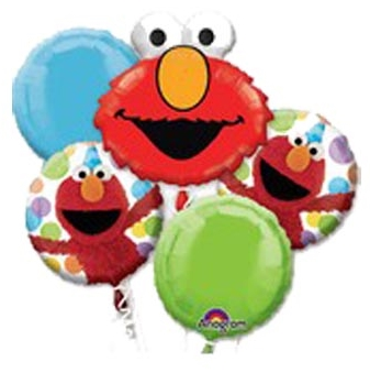 Elmo Head Party Balloon Package