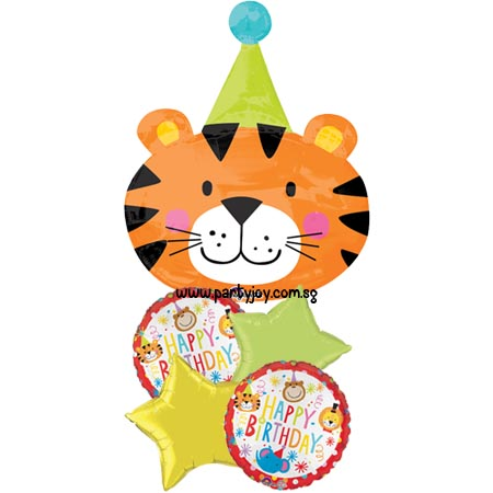 Happy Birthday Circus Tiger Balloon Package