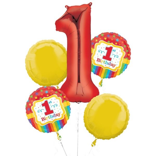 1st Birthday Stars Balloon Package