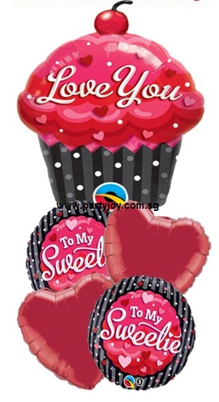 To My Sweetie Balloon Package