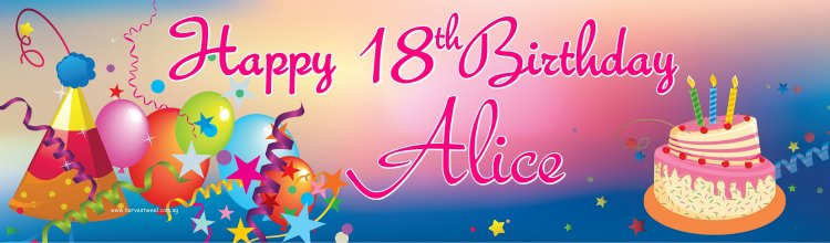 Birthday Celebration Customized Banner