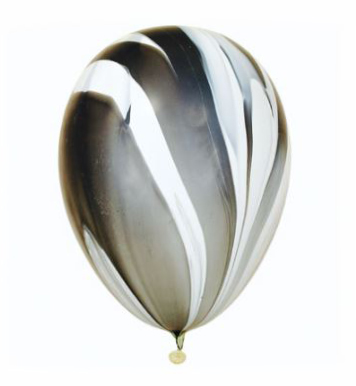 Black Marble Superagate Helium Latex Balloon