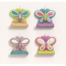 Fanciful Butterflies Molded Candle Set