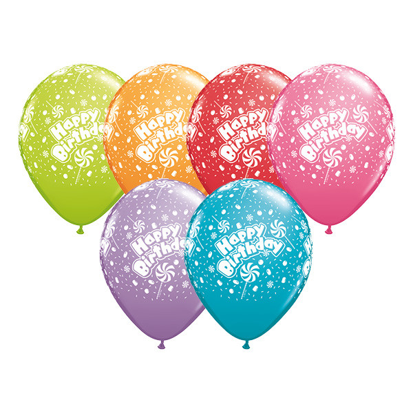 Happy Birthday Candy A Round Helium Latex Balloon