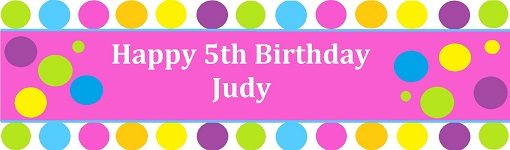 Candy Birthday Customized Banner