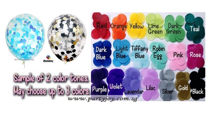 Confetti Helium Latex Balloon (Customise) size: 12""