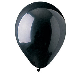 Crystal Black Helium Latex Balloon