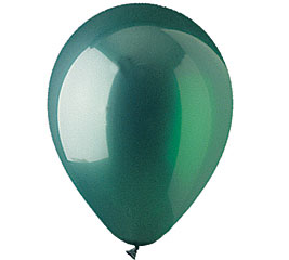 Crystal Emerald Green Helium Latex Balloon