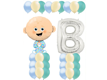 Cute Baby Boy Balloon Value Package