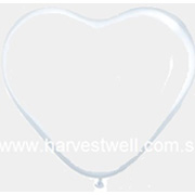 Diamond Clear Heart Shape Helium Latex Balloon
