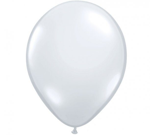 Diamond Clear Helium Latex Balloon