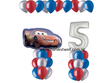Disney Cars Age Balloon Value Package