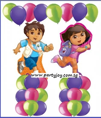 Dora & Diego Balloon Value Package