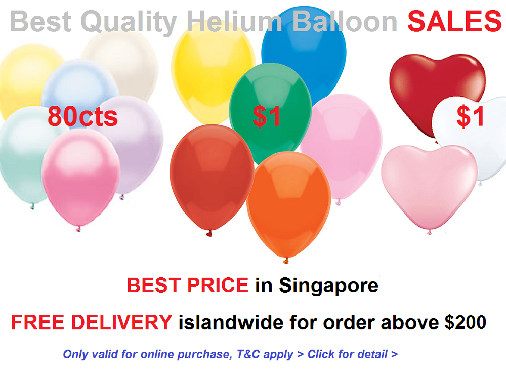Party Joy Free Balloon Delivery Service Singapore