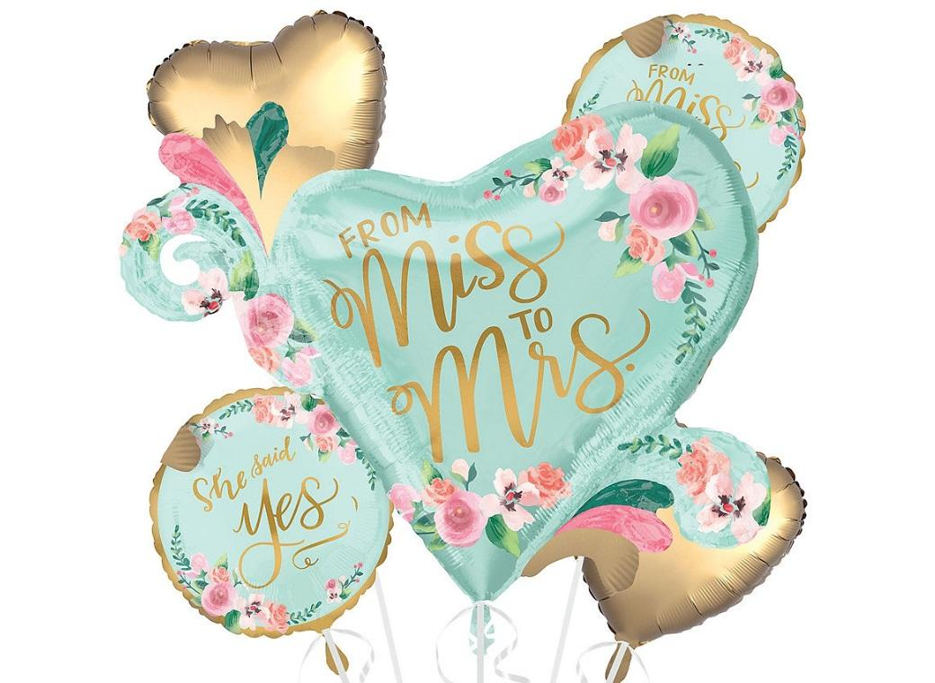From Miss To Mrs Balloon Bouquet