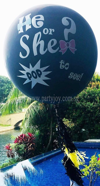 Gender Reveal Jumbo Helium Latex Custom Print Balloon Size: 36""