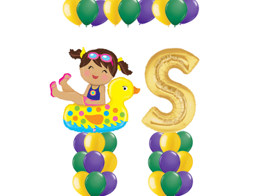 Girl Floatie Balloon Value Package