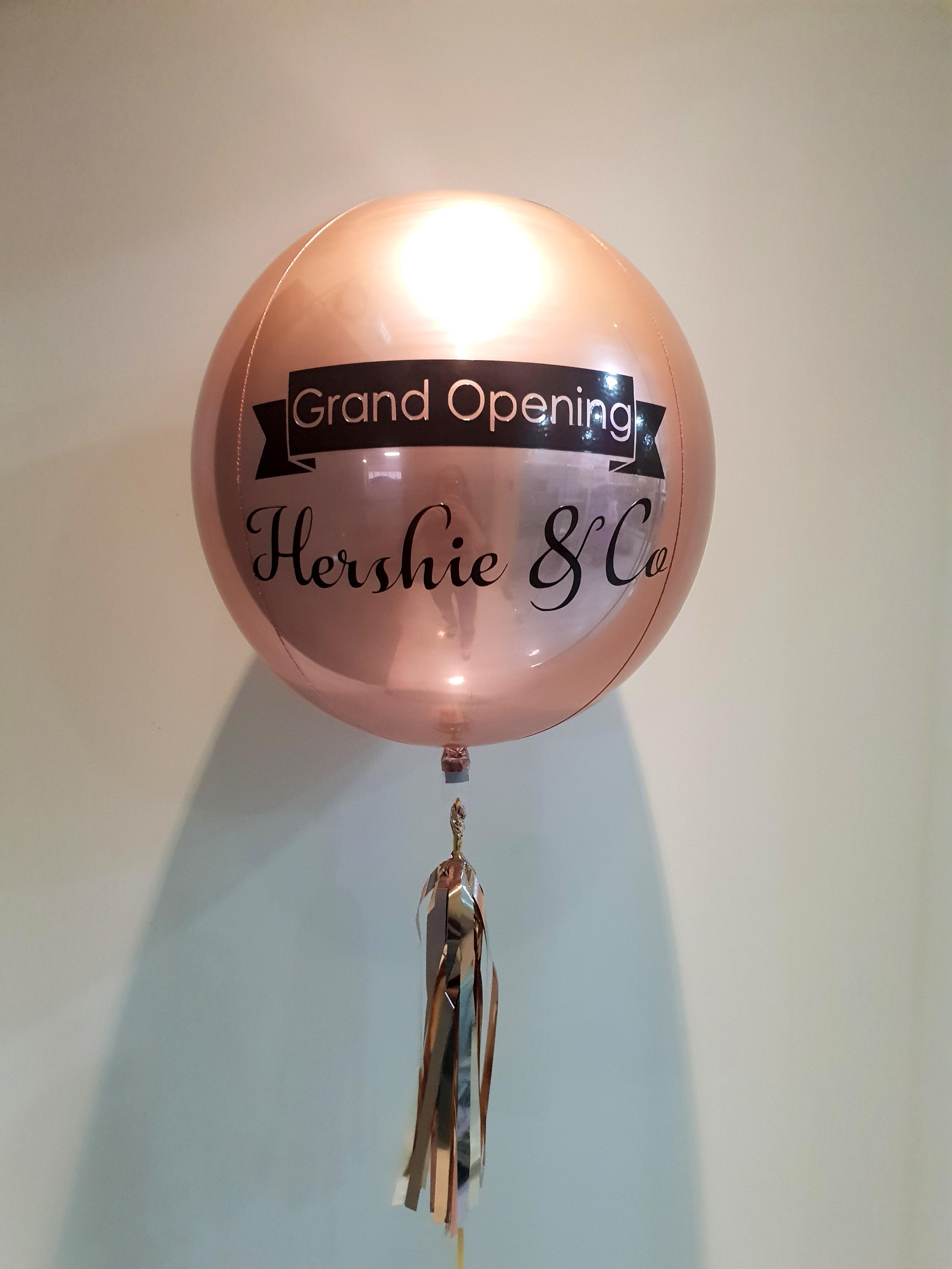 Customize Print Grand Opening Rose Gold ORBZ Balloon