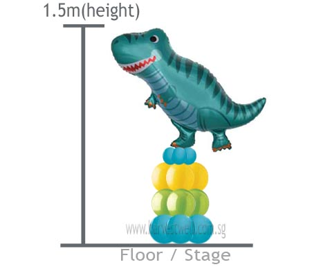 Customize Dinosaur Balloon Column